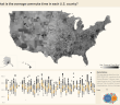 What is the average commute time in each U.S. county_