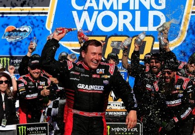 Ryan Newman gambles on late caution, wins Camping World 500