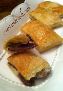 Nutella Filled Puff Pastry Pockets