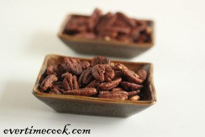 Sweet and Salty Roasted Pecans