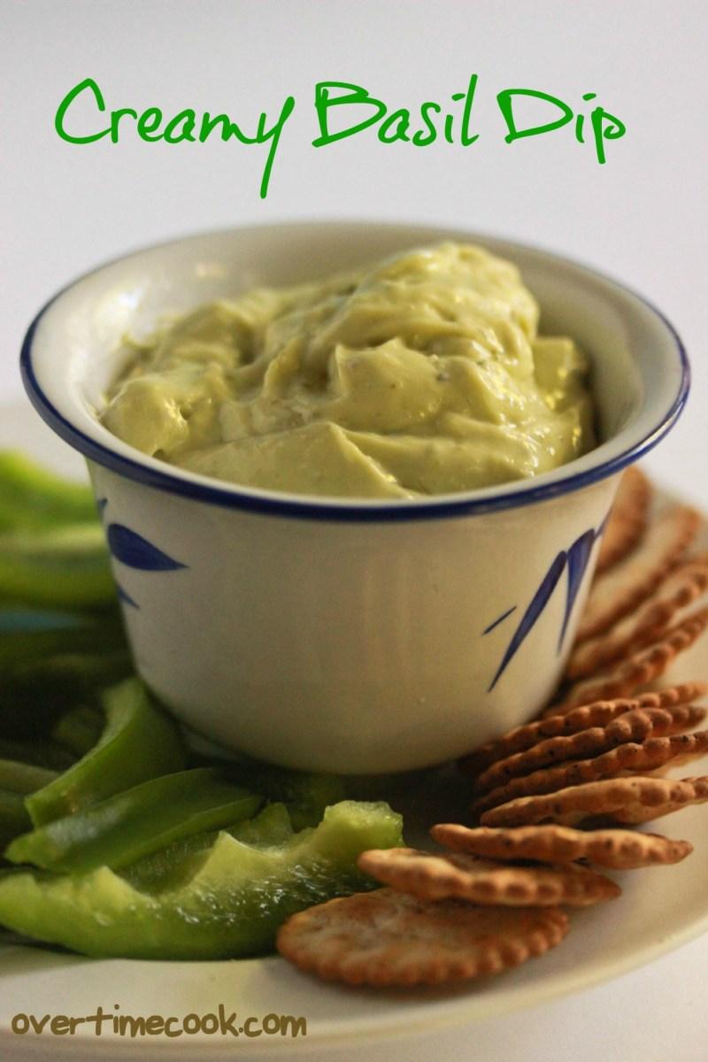 Creamy Basil Dip