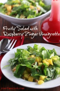 Fruity Salad with Raspberry Zinger Vinaigrette