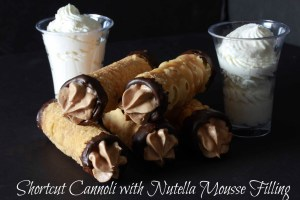 cannoli with chocolate mousse filling on Overtime Cook
