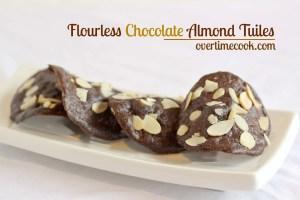 Flourless Chocolate Almond Tuiles