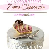 Neapolitan Zebra Cheesecake
