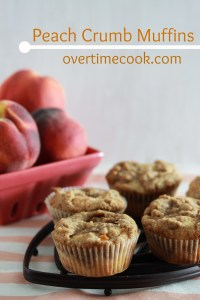 Peach Crumb Muffins on overtimecook