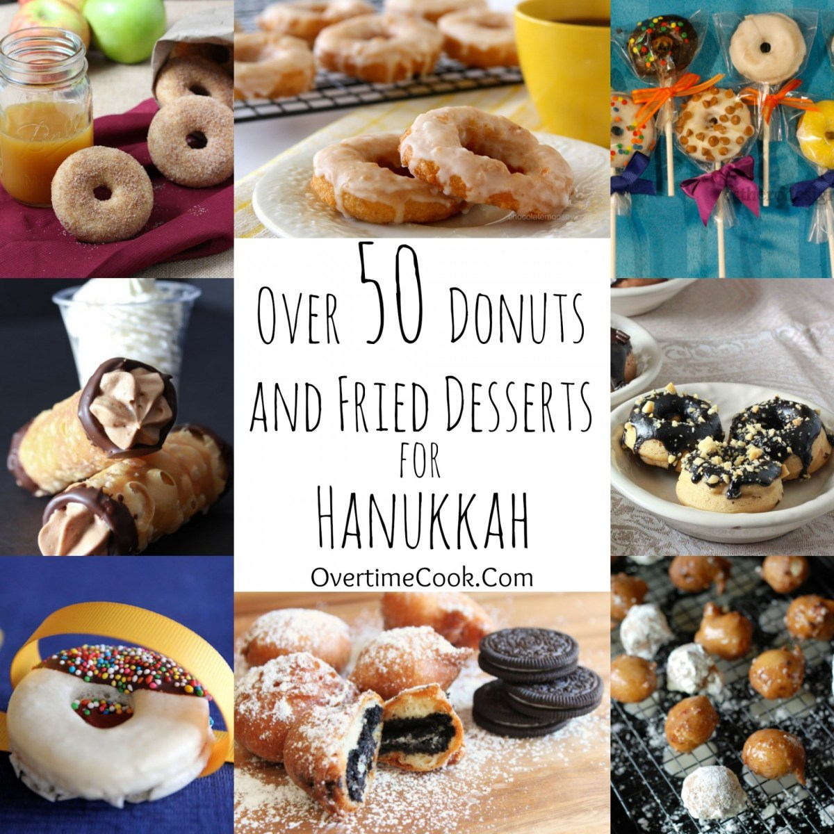Over 50 Donuts and Fried Desserts for Hanukkah