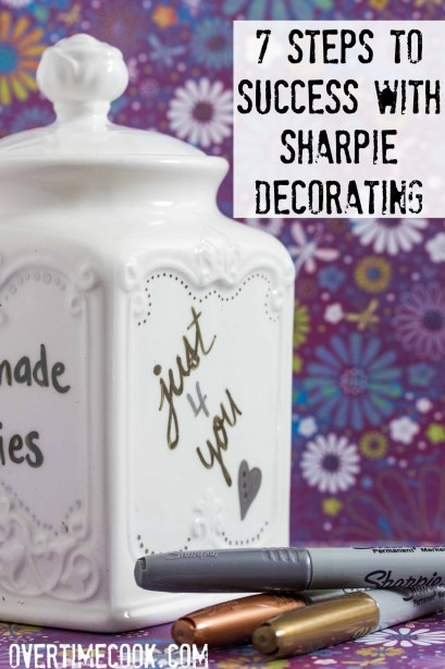 7 steps to perfect DIY cookie jars with Sharpies on overtimecook