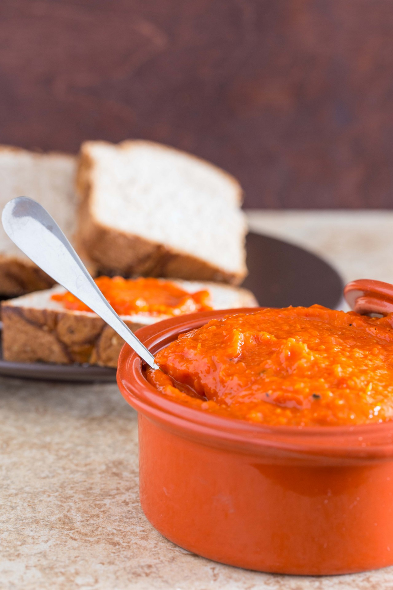 Roasted Red Pepper Dip - Overtime Cook