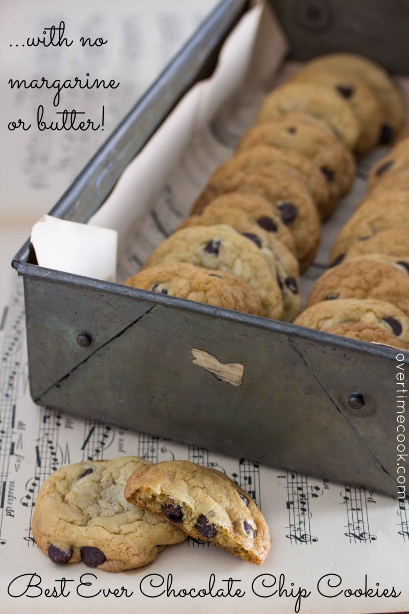 Best Ever Chocolate Chip Cookies Without Margarine or Butter