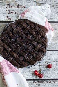 chocolate cherry pie on overtimecook.com