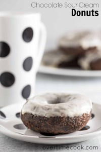 Chocolate Sour Cream Donuts