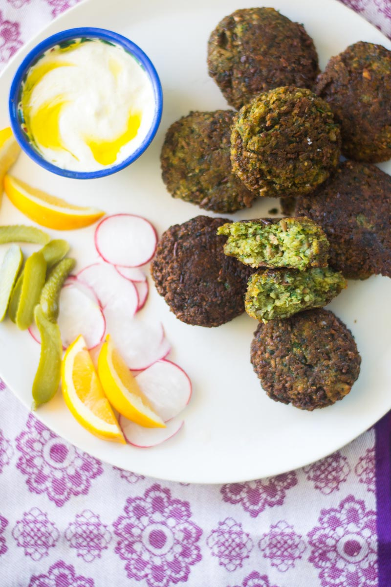 Fava bean falafel makes a delicious meatless meal.