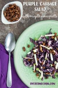 Purple Cabbage Salad with Maple Vinaigrette