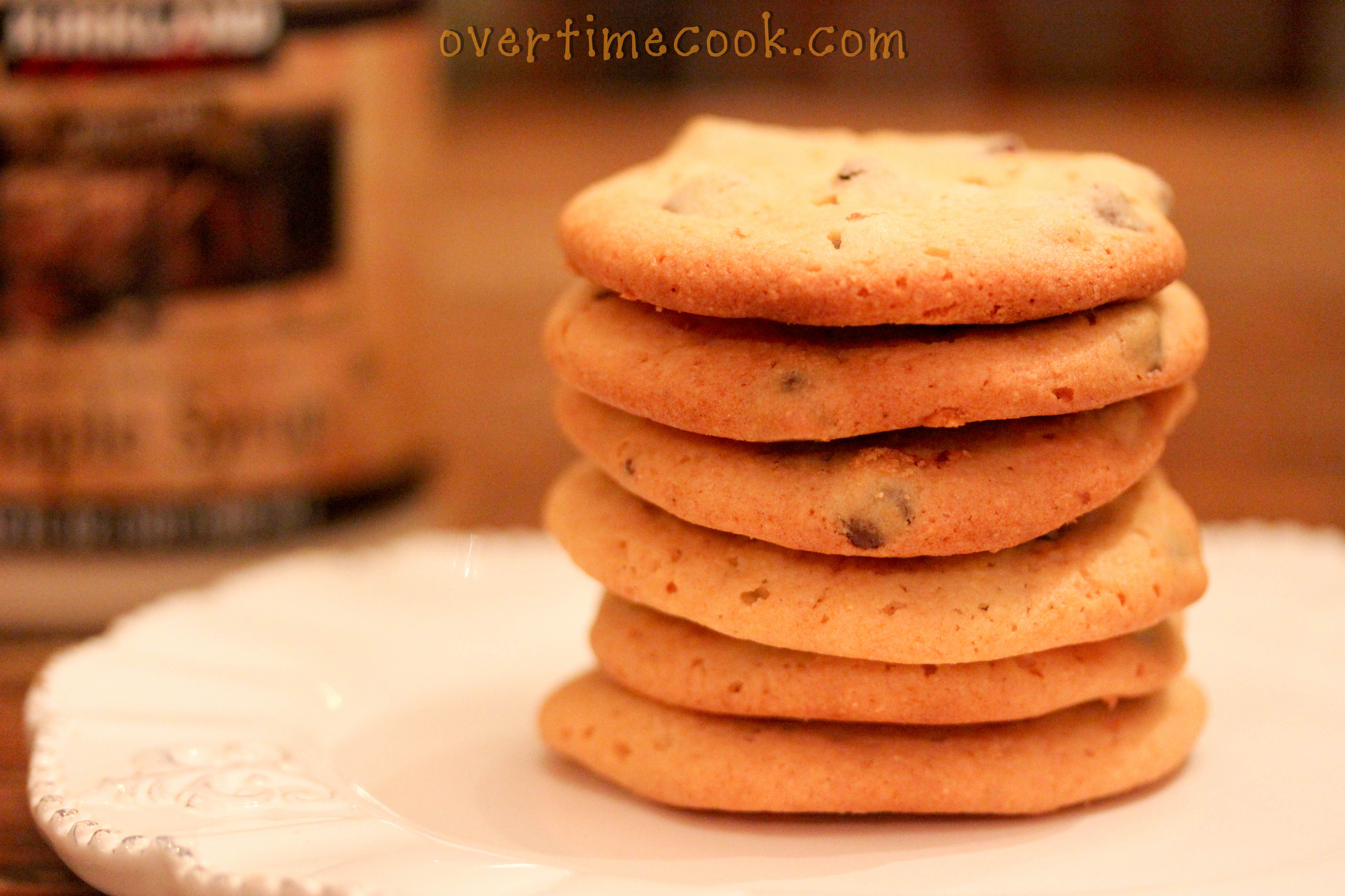 Chocolate Chip Pancake Cookies - Overtime Cook