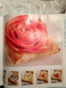 apple rose custard