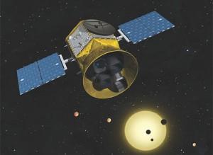 Renderização artística do telescópio TESS.