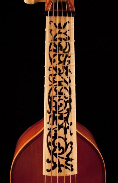 Treble viol fingerboard
