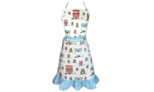 Charming Hoot Hoot Hooray Owl Apron