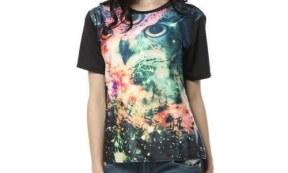 Pandolah Women's Galaxy Owl Shirt.500