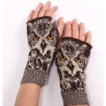 Women's Owl Gloves Handwarmers.500 (Womens Owl Gloves Handwarmers)