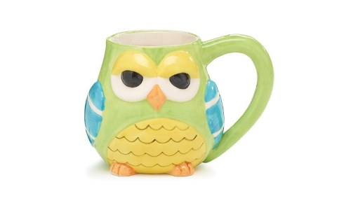 Whimsical Hootie Owl Coffee Mug / Cup