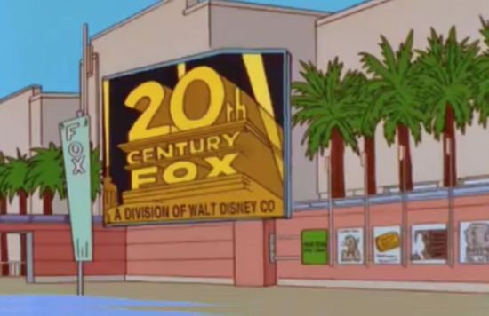 "The Simpsons predicting Disney's fox takeover in ""When You Dish Upon A Star"""