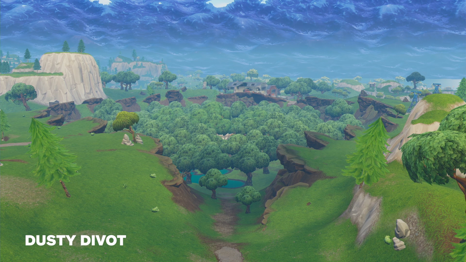 Fortnite Season 5 Map Changes  Hi Res Map  List of New Locations     Dusty Depot turned into Dusty Divot in Season 4  and though it retains its  name  its environment has changed a lot  Compare this forested hole to the