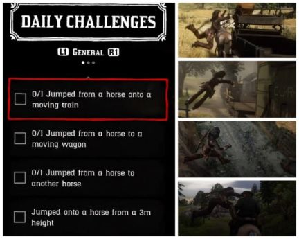 red dead online jump challenges