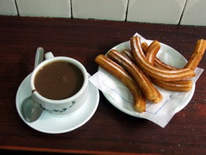 chocolate and churros (photo by dansarkosy)