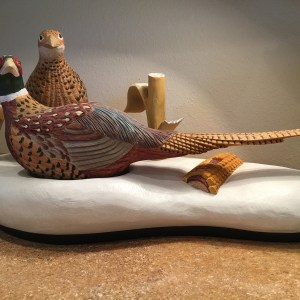 Ozarks Art Gallery | Russ Biros - Pheasants in the Snow