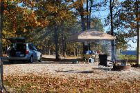 Breakfast at Berry Bend Campsite