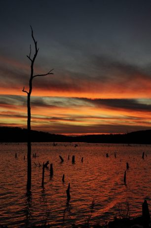 Sunset at Bucksaw, Harry S Truman Lake, Missouri