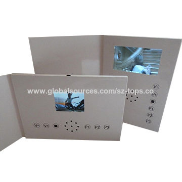 China Video brochure from Shenzhen Wholesaler  Tops Technology Stock     Video brochure China Video brochure