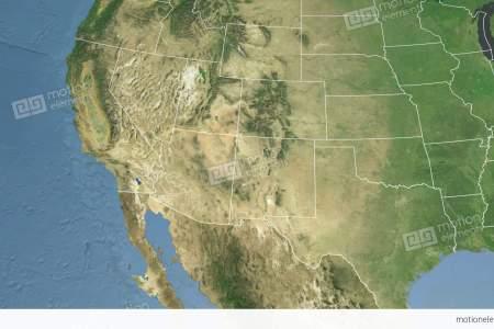 arizona state (usa) extruded. satellite map stock