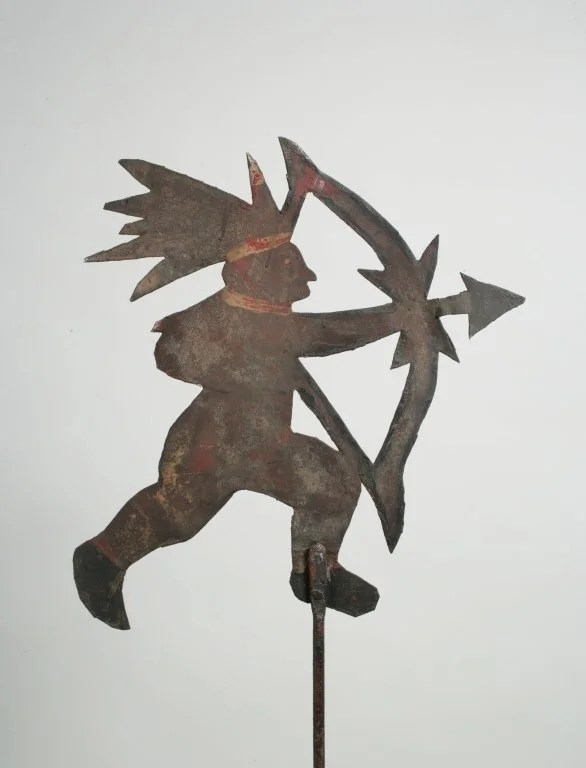 10: Painted Sheet Iron Figure of Indian