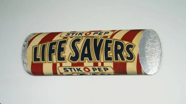 28: Group of Five Painted Plywood Life Saver Signs