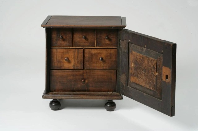 51: Paneled Maple and Pine Valuables Chest