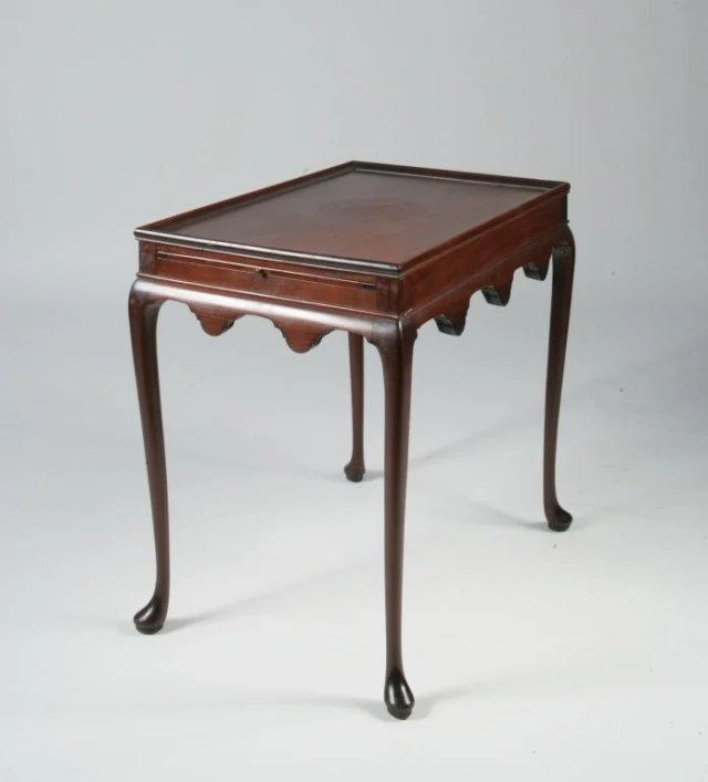 106: Queen Anne Rectangular Mahogany Tea Table
