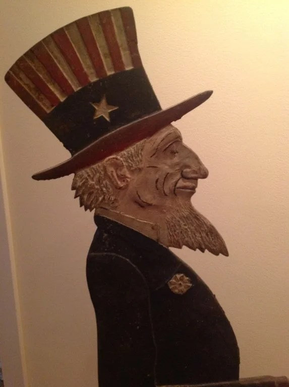 136: Painted Cast Iron Full Length Figure of Uncle Sam