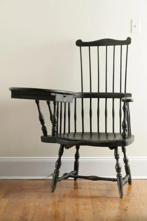 143: Painted Windsor Writing Arm Chair