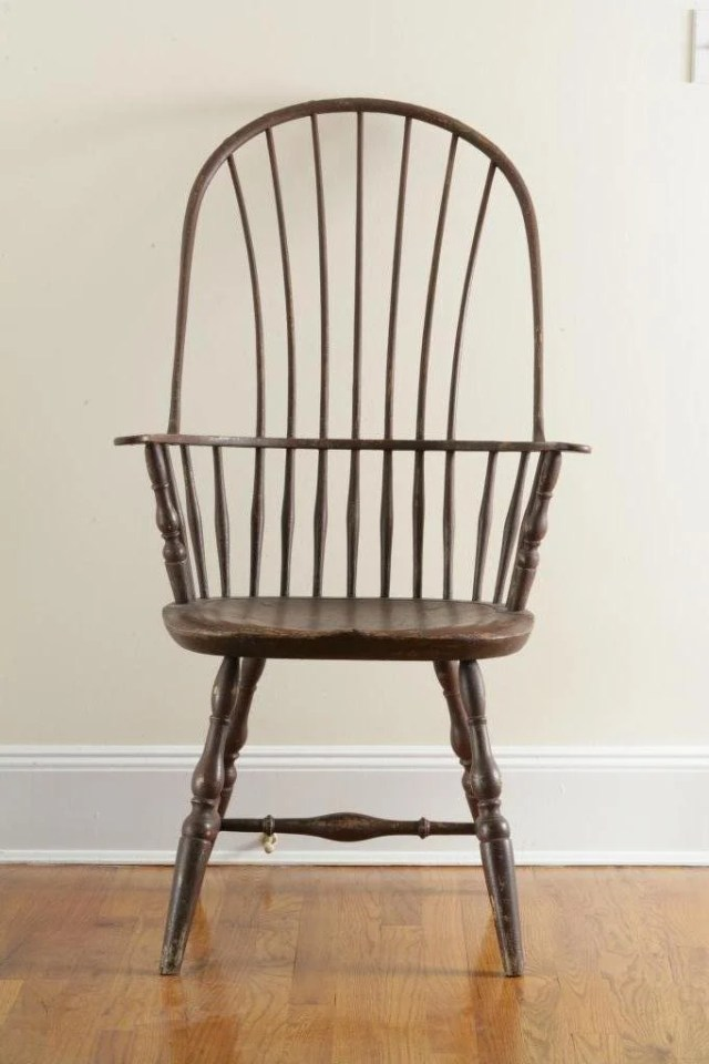 150: Painted Tall Sack-Back Windsor Arm Chair