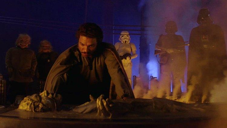 Slik ser Han Solo ut etter et besøk i karbonittfryseren (Foto: Lucasfilm).