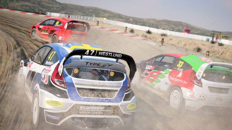 """Rallycross, eller som jeg liker å kalle det: """"kunsten å krasje i alle andre helt til du vinner"""".  (Foto: Codemasters)"""