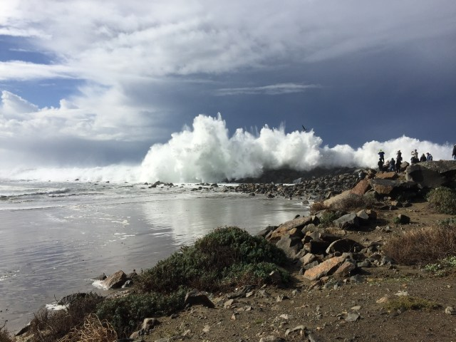 North jetty breakers