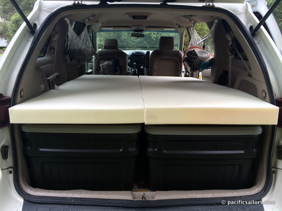 Trail of Blue Ice and New Mini Van Bed | PacificSailors.com