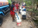 BPBD Jatim mengirimkan air bersih di Dusun Nasri, Kalak, Donorojo, Pacitan, beberapa waktu lalu.