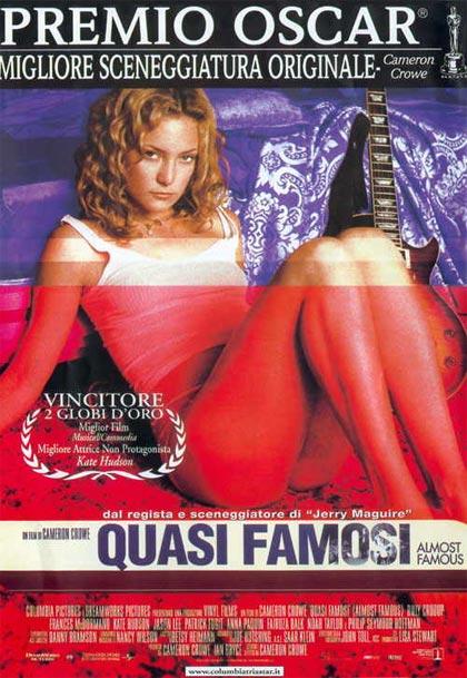 Locandina italiana Quasi famosi