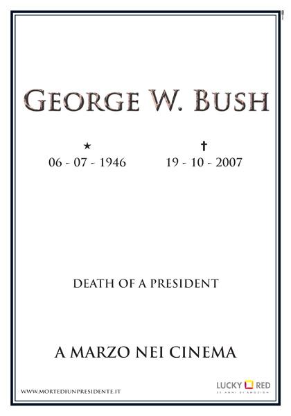 Locandina italiana Death of a President (Morte di un presidente)