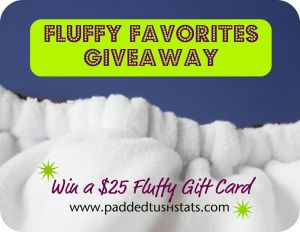 Padded Tush Stats Fluffy Favorites Giveaway Logo
